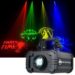 American DJ Gobo Projector IR 12W Mobile Gobo Projector w/ 4x Gobos