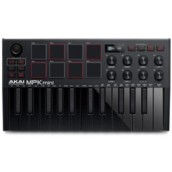Akai MPK Mini mk3 Compact Keyboard & Pad Controller w/ Encoders & Software (Black)