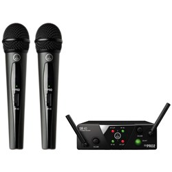 AKG WMS40 Dual Handheld Wireless Mic System Band US25A/C (537.500/539.300MHz)