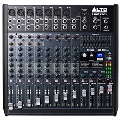 Alto Live 1202 Professional 12-Channel 2-Bus Mixer w/ USB & Effects