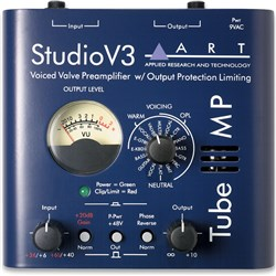ART Pro Audio Tube MP Studio V3 Voiced Valve Preamplifier w/ Output Protection Limiting