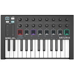 Arturia MINILAB MKII 25-Key MIDI Controller / Soft Synth (Limited Edition Black)