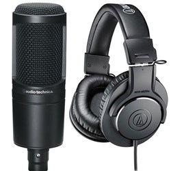 Audio Technica AT2020 & ATH M20x Studio Recording Combo Pack