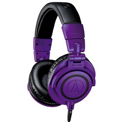 Audio Technica ATH M50x Studio Headphones (Limited Edition Purple & Black)