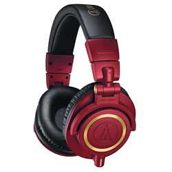 Audio Technica ATH M50x Studio Headphones (Limited Edition Red)