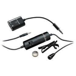 Audio Technica ATR3350iS Omni Condenser Lavalier Mic For Smartphones