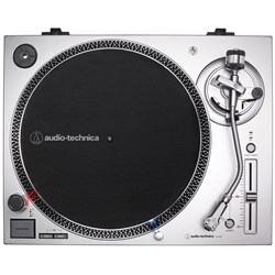 Audio Technica LP120xUSB Direct-Drive Turntable w/ VM95E Cartridge (Silver)