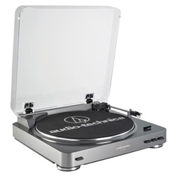 Audio-Technica LP60-USB Belt Driven USB Turntable (Grey)