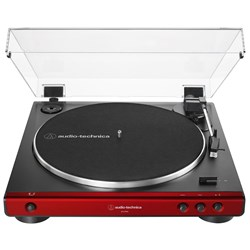 Audio Technica LP60X Standard Belt Drive Turntable w/ Built In Preamp (Red)