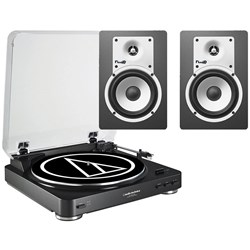 Audio Technica LP60 & Fluid C5 Turntable & Speaker Pack (Black)