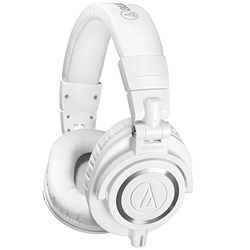 OPEN BOX Audio Technica ATH M50x Studio Headphones (White)