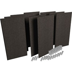 Auralex ProPanel ProKit-1 Acoustic Room Treatment System  - 9 Panels (Obsidian)