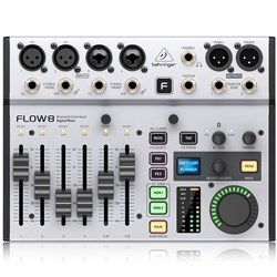 Behringer FLOW-8 Digital Mixer w/ 8-Inputs, App,  Bluetooth, FX & USB Audio Interface