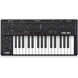Behringer MS101 Analog Synthesiser Keyboard w/ Live Performance Kit (Black)