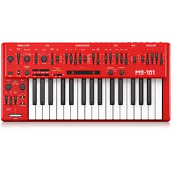Behringer MS101 Analog Synthesiser Keyboard w/ Live Performance Kit (Red)