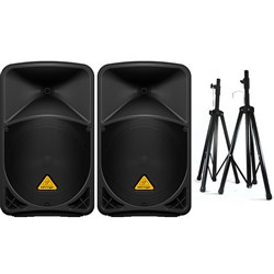 Behringer B112D Pack with Stands Deal