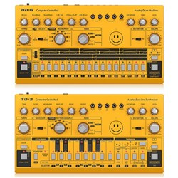 Behringer Acid Pack w/ RD6 Drum Machine & TD3 Bass Line Synth (Yellow)