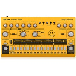 Behringer RD6 Classic 606 Analog Drum Machine w/ 16 Step Sequencer (Yellow)
