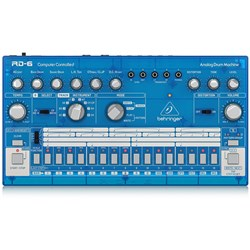 Behringer RD6 Classic 606 Analog Drum Machine w/ 16 Step Sequencer (Blueberry)