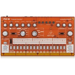 Behringer RD6 Classic 606 Analog Drum Machine w/ 16 Step Sequencer (Tangerine)