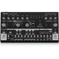 Behringer TD3 Analog Bass Line Synth w/ VCO, VCF, 16-Step Sequencer (Black)