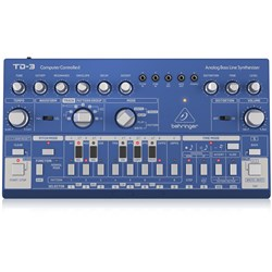 Behringer TD3 Analog Bass Line Synth w/ VCO, VCF, 16-Step Sequencer (Blue)