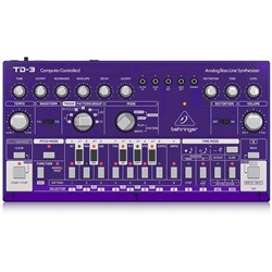 Behringer TD3 Analog Bass Line Synth w/ VCO, VCF, 16-Step Sequencer (Grape)