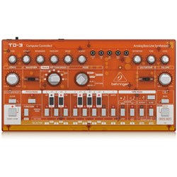 Behringer TD3 Analog Bass Line Synth w/ VCO, VCF, 16-Step Sequencer (Tangerine)