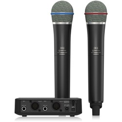Behringer Ultralink ULM302MIC Dual Digital Wireless System w/ 2x Handheld Mics & Receiver