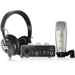 Behringer U-Phoria Studio Recording/Podcasting Bundle w/ Interface, Mic & Headphones