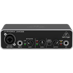 Behringer U-Phoria UMC22 2x2 USB Audio Interface (16-Bit/48kHz)