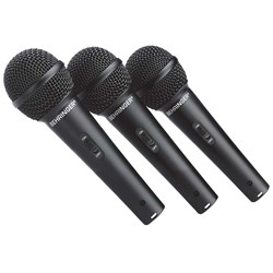 Behringer Ultravoice XM1800S Dynamic Cardioid Mics (3-Pack)