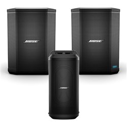 Bose S1 Pro Pack w/ Pair of S1 Pro Battery Powered Speakers & SUB1 Subwoofer