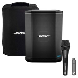 Bose S1 Pro Battery Powered Portable PA Pack w/ Sennheiser Handheld Wireless Mic Set
