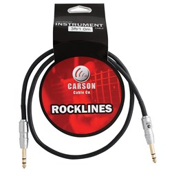 Carson Rocklines TRS - TRS Balanced Audio Cable (3ft)