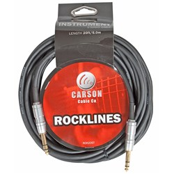 Carson Rocklines TRS - TRS Balanced Audio Cable (20ft)