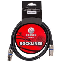 Carson Rocklines Balanced Cable XLR Female to XLR Male (6ft)