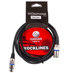 Carson Rocklines Balanced Cable XLR Female to XLR Male (10ft)