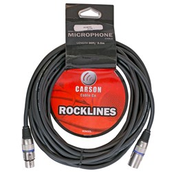 Carson Rocklines Balanced Cable XLR Female to XLR Male (30ft)