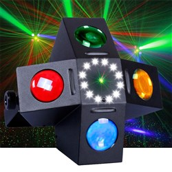 CR Fusion LED Effect Light, Red/Green Laser and Strobe