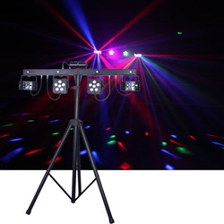 CR Mix Party Bar Pro (Derby + LED Par + UV/Strobe + RG Laser w/ Wireless Controller)
