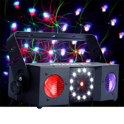 CR Reaktor LED Effect Light, Red/Green Laser and Strobe