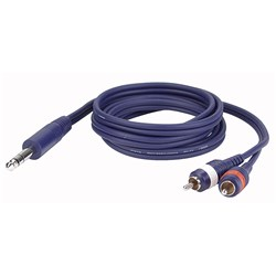 "DAP Audio FL-353 Stereo 1/4"" TRS to Dual Mono RCA Cable (3m)"