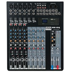 DAP Audio GIG-124C 12-Ch Mixer w/ USB MP3 Playback & Onboard Compression