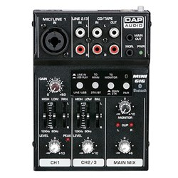 DAP Audio Mini-GIG Compact Mixer with Bluetooth & USB