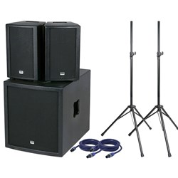 "DAP Audio Club Mate I Pack w/ 12"" Sub, Speakers, Stands, Cables & Covers"