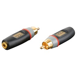 DAP Audio XGA-04 Xcaliber Series 3.5mm TS(F) to RCA(M) Adapter (SINGLE)