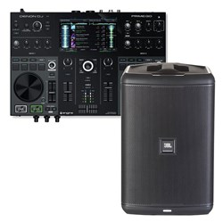 Denon & JBL Fully Portable Battery Powered DJ System w/ Prime Go & EON ONE Compact