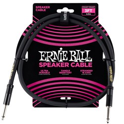 Ernie Ball 3' Straight / Straight Speaker Cable