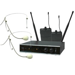 E-lektron IU-2082HS UHF Dual Channel Headset Mic Set
